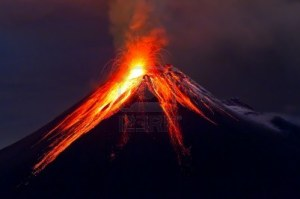 15897662-tungurahua-volcano-eruption-at-night-with-snow-ecuador