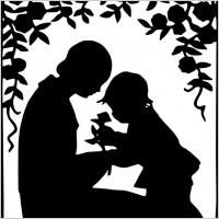 mother_and_child_silhouette_clip_art_23538